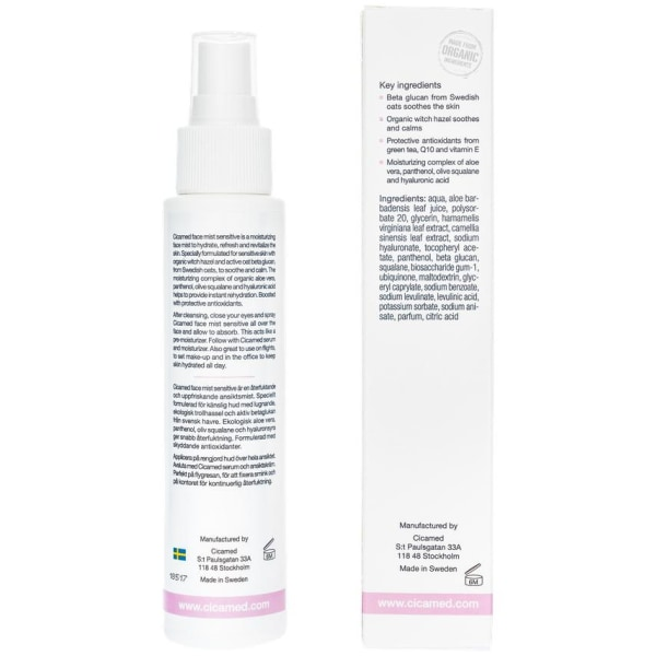 Cicamed Face Mist Sensitive 100ml Transparent