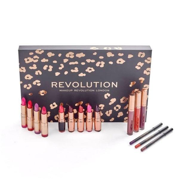 Giftset Makeup Revolution Lip Revolution Reds Svart