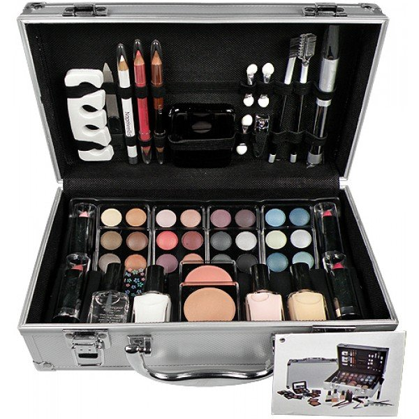 Makeup Box Alu Case French Manicure Silver