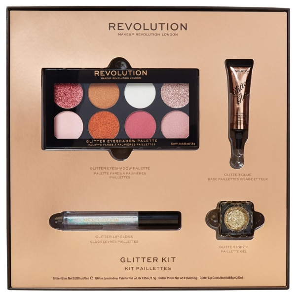 Makeup Revolution Glitter Kit Rosa guld