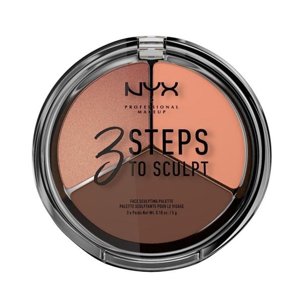 NYX PROF. MAKEUP 3 Steps To Sculpt Face Sculpting Palette - Deep Brun