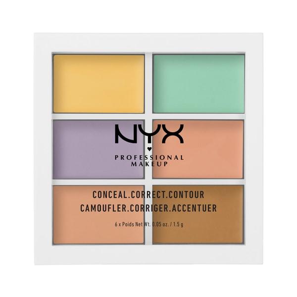 NYX PROF. MAKEUP 3C Palette Color Correcting Concealer Transparent