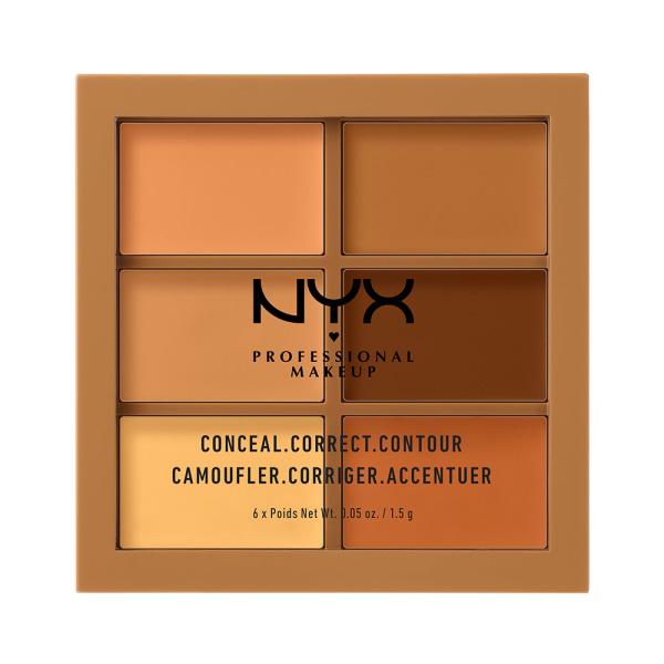 NYX PROF. MAKEUP 3C Palette Conceal Correct Contour Deep Transparent
