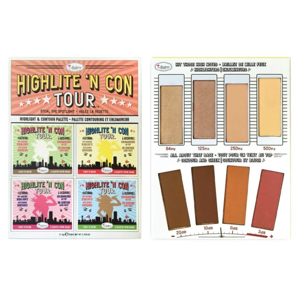 theBalm Highlite N Con Tour Highlight & Contour Palette multifärg