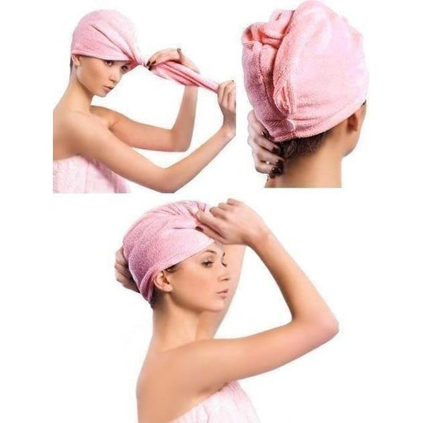 Handduk mikrofiber turban (Färg: Lila)