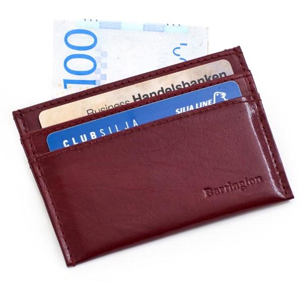 RFID Barrington röd korthållare med 4 kortfack