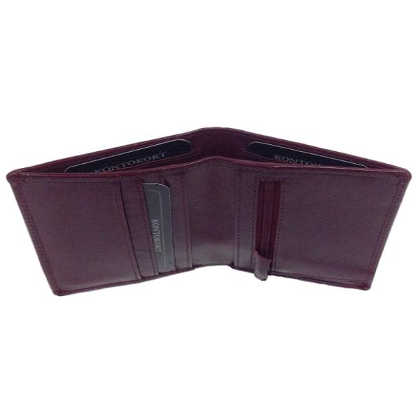 Barrington röd miniplånbok i äkta skinn, 9 fack