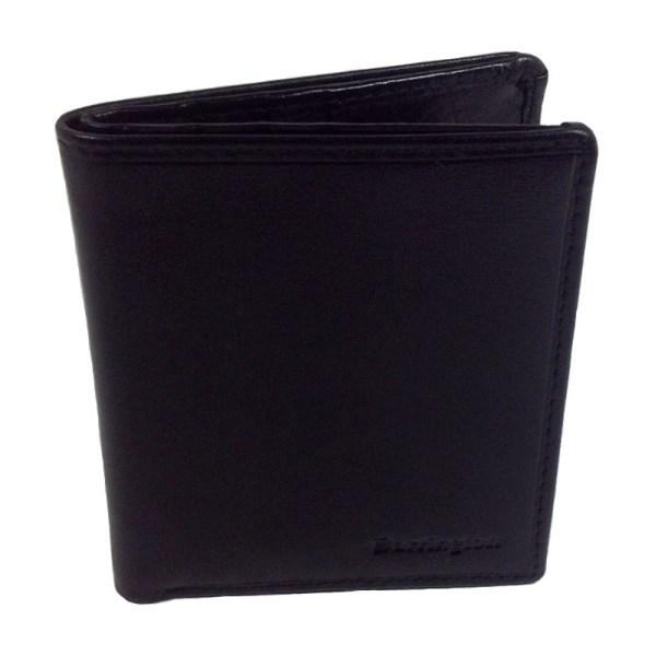 Barrington svart miniplånbok i äkta skinn