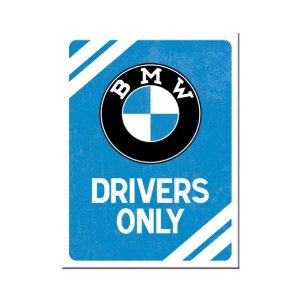 """Kylskåpsmagnet """"BMW DRIVERS ONLY"""""""