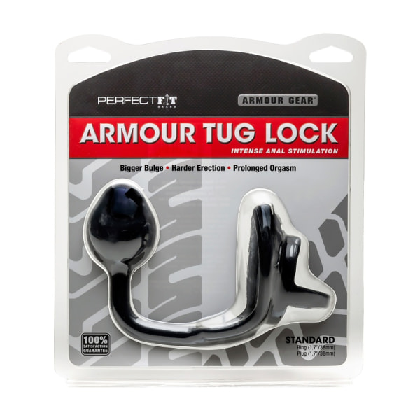 Perfect Fit: Armour Tug Lock, Medium Plug Svart