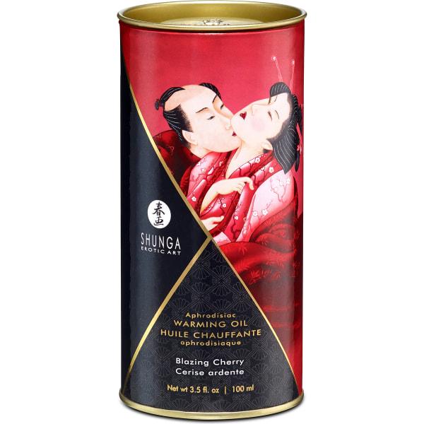 Shunga: Aphrodisiac Warming Oil, 100 ml Röd