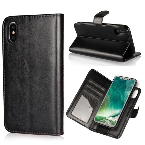 Iphone Xs Fodral, Plånbok, Magnetskal Svart Svart