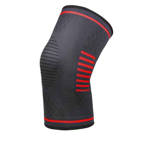 1 par knäskydd Kompressionsbenärm Kneepad Running Röd S