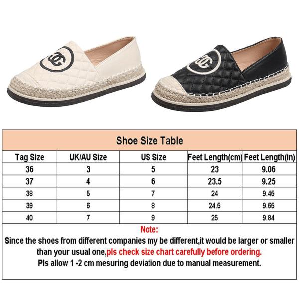 Dammode loafers PU övre avslappnade skor platta skor Svart 38