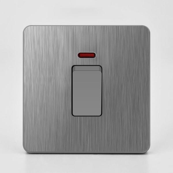 Eluttag Väggbrytare och uttag Grå USB-insatser 20A-omkopplare