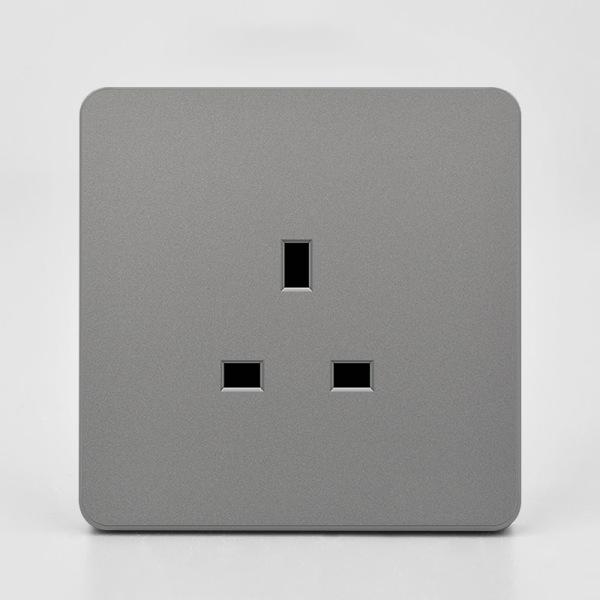 Eluttag Vägglampa Strömställare och uttag USB-panel 13A uttag