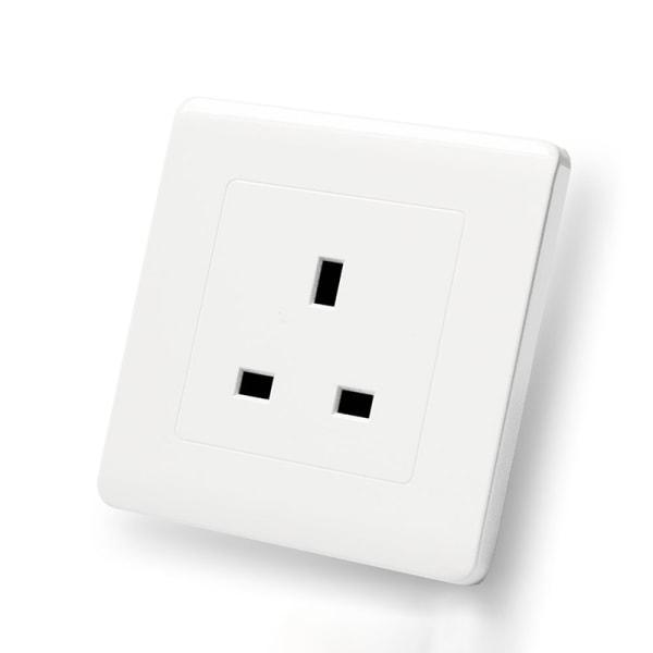 Eluttag Vägglampa Strömställare1 2 Gang 13A USB-laddare Vit 13A uttag