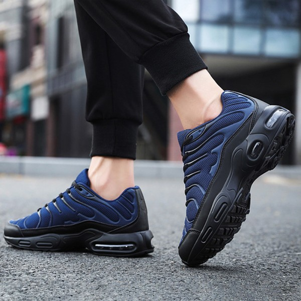 Herr Air Cushion Running Sneakers Fritidsskor Tennis Sneakers blå 42