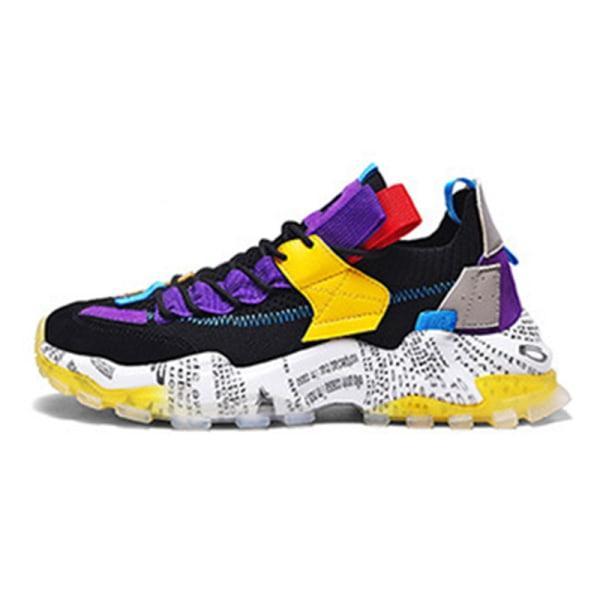 Herr casual plattform sneakers andas vandring casual skor Lila 42
