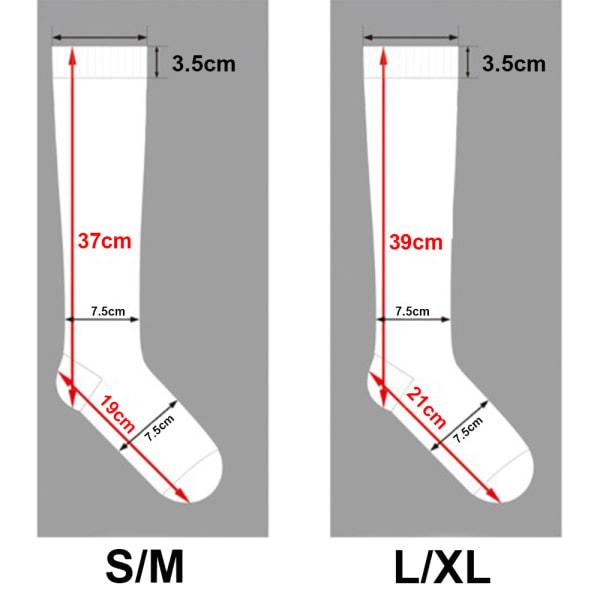 Kompressionsstrumpor Kalvärm Benstöd 15-20mmHg för Svarta och vita rutor L / XL