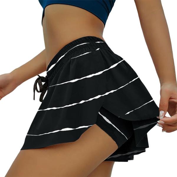 Kvinnor Snabbtorkande Ventilation Leggings Running Shorts Kjol Rand XXL