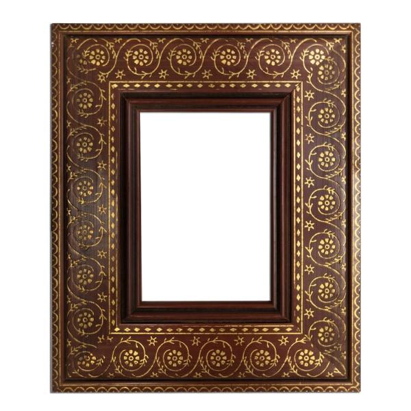 10x15 cm eller 4x6 tum, fotoram i guld Brun