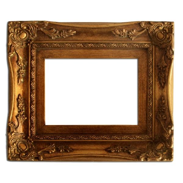 13x18 cm eller 5x7 tum, fotoram i svart Guld