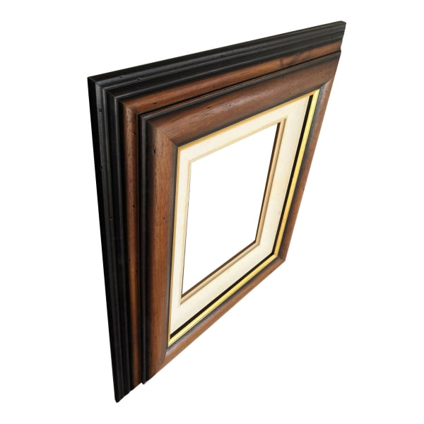 20x25 cm eller 8x10 tum, fotoram i ek Guld