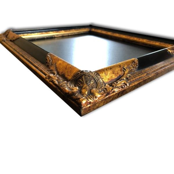 25x30 cm eller 10x12 tum, fotoram i svart Guld