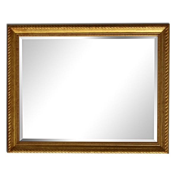 25x30 cm eller 10x12 tum, spegel i guld Guld