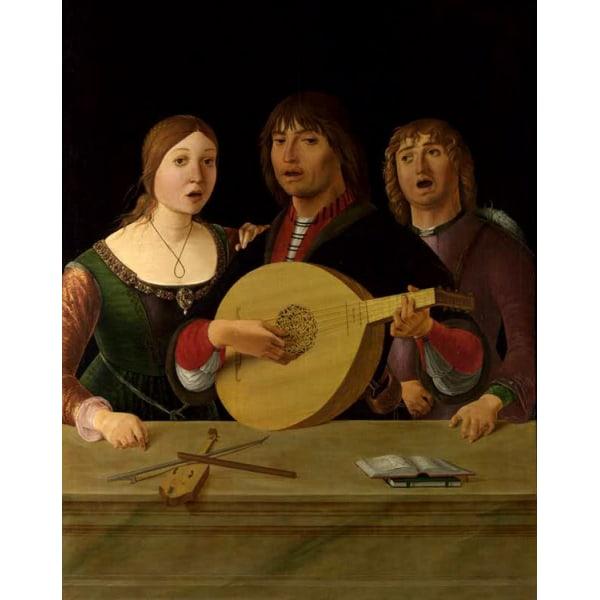 A Concert,Lorenzo Costa,50x40cm Brun