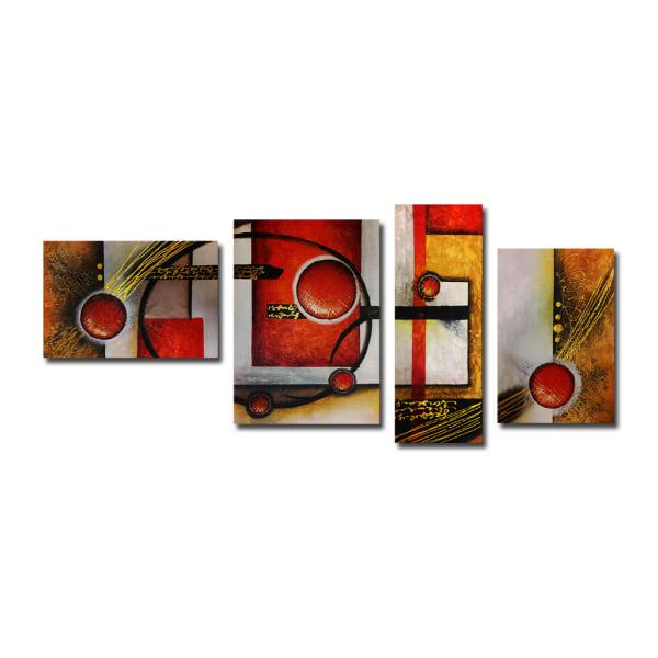 Abstrakt, handmålad oljemålning 180x80 cm