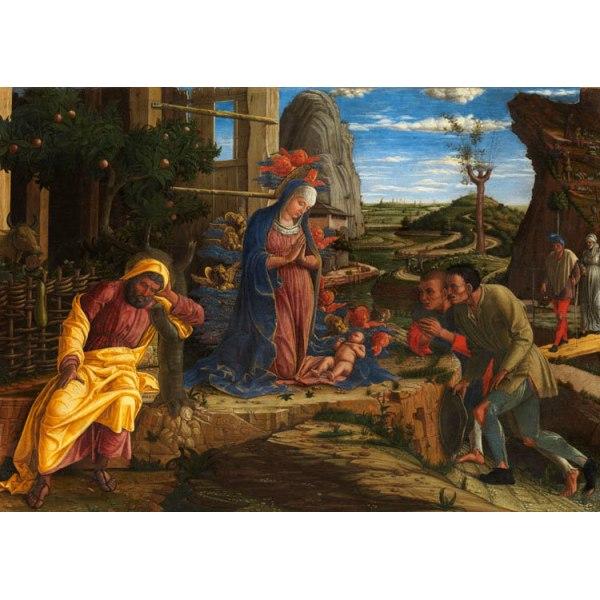 Adoration of the Shepherds,Andrea Mantegna,60x42cm Brun