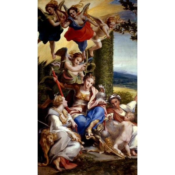 Allegorie des vertus on La vertu heroique,Correggio,80x40cm