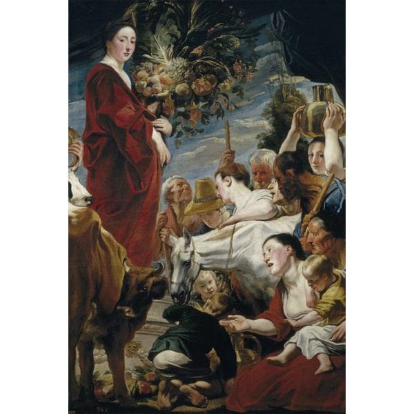 An Offering to Ceres,Jacob Jordaens,60x40cm