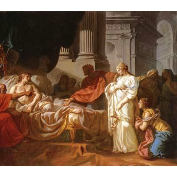 Antiochus and stratonice,Jacques-Louis David,60x50cm