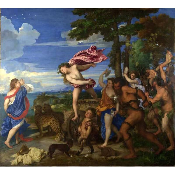 Bacchus and Ariadne,Titian,50x45cm Brun