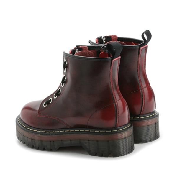 Boots i äkta skinn Black 37