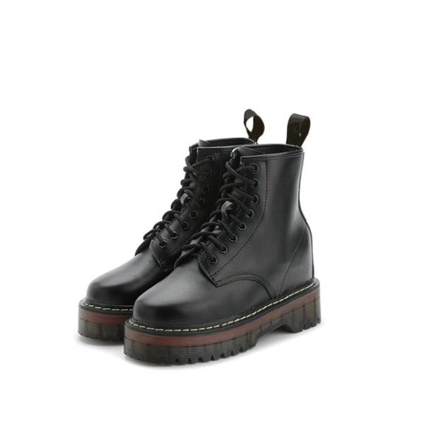 Boots i äkta skinn Black 38