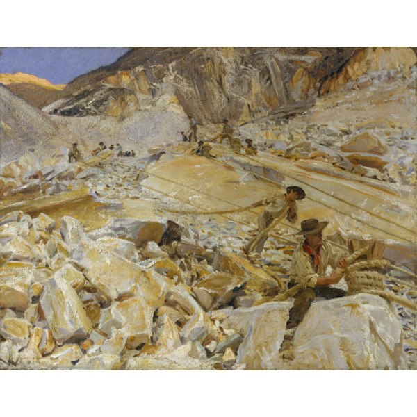 Bringing Down Marble from the,John Singer Sargent,50x40cm