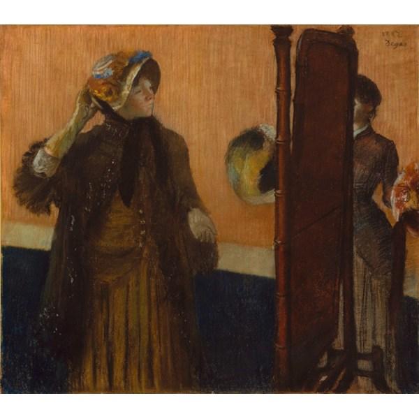 Cbez la Modiste,Edgar Degas,50x44cm Brun