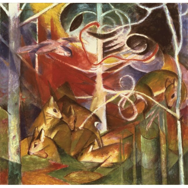 Deer in the Forest i,Franz Marc,50x50cm