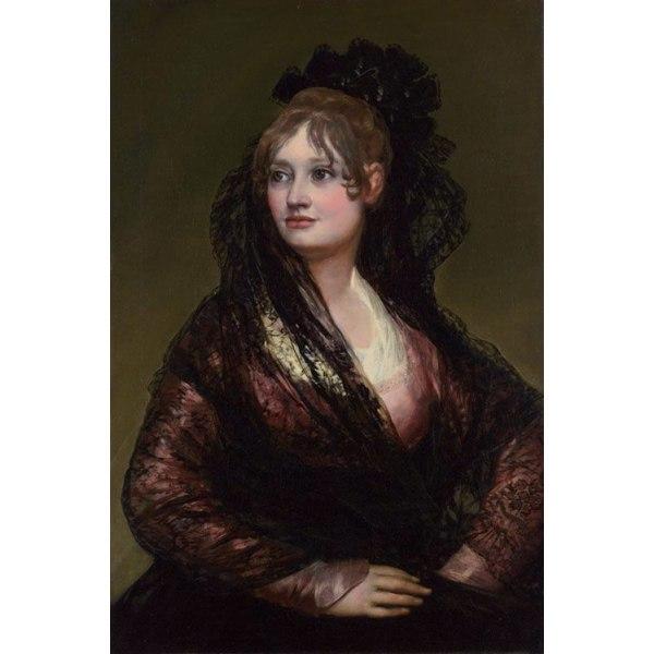 Dona Isabel de Porcel,Francisco Goya,50x40cm Brun