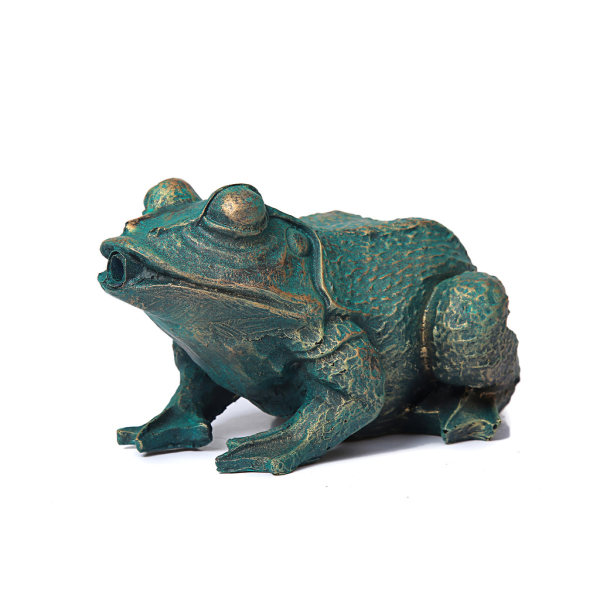 Groda, fontän för trädgården 21x14x11 cm Grön