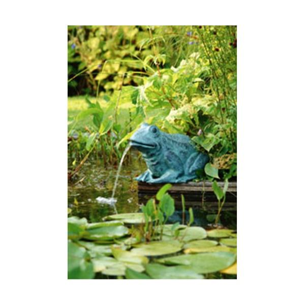 Groda, fontän för trädgården 31x24x21 cm grå