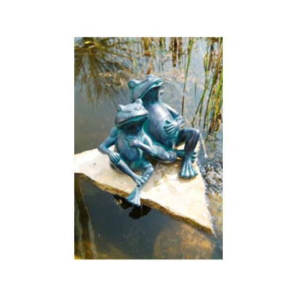 Grodor, fontän för trädgården 30x27x20 cm Grön