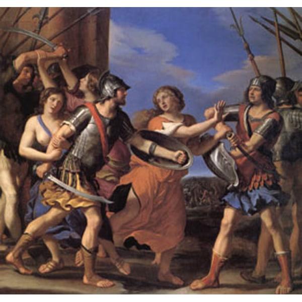 Hersilia Separating Romulus from Tatius,GUERCINO,50x50cm