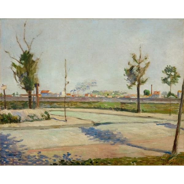 Impression,Paul Signac,50x40cm Brun