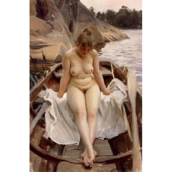 In Werner-s Rowing Boat,Anders Zorn,60x40cm multifärg