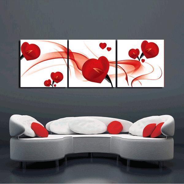 Kanvas tavla,blommor 160x50 cm